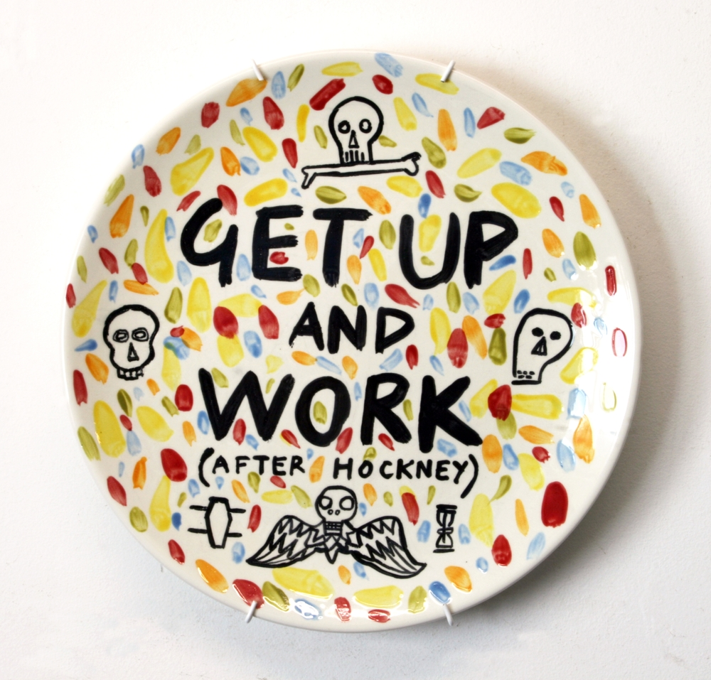 Get Up & Work (After Hockney)