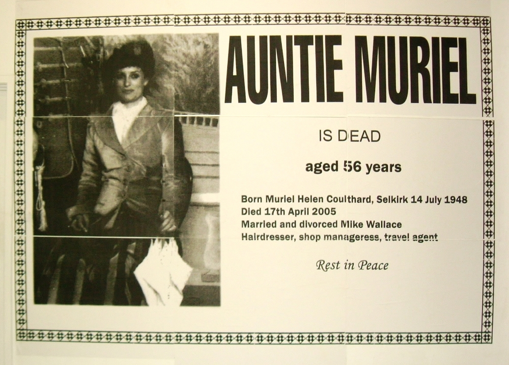 Untitled (Auntie Muriel is Dead)
