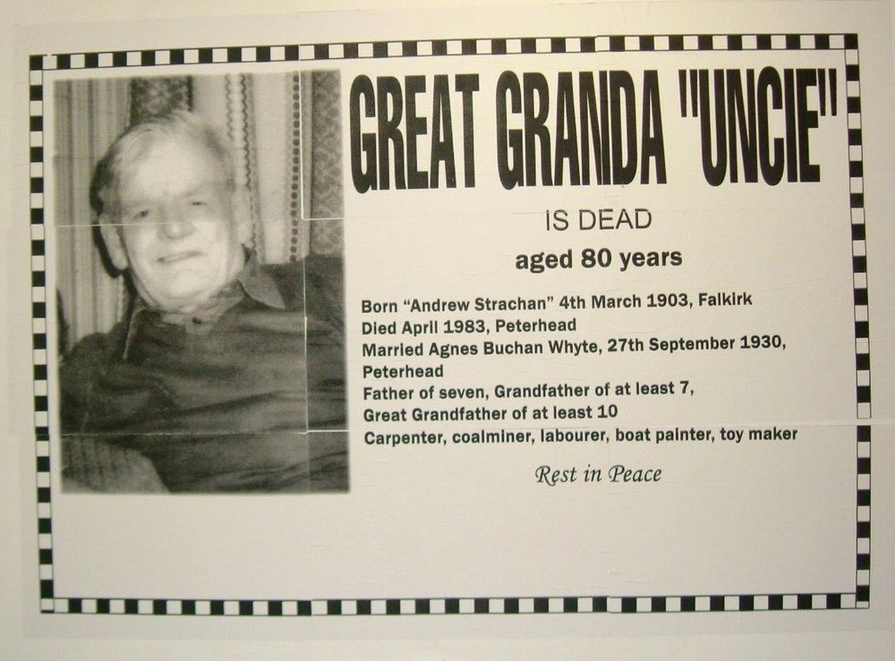 Untitled (Great Granda Uncie is Dead)
