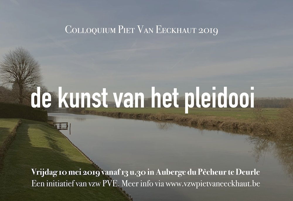 colloquium Piet Van Eeckhaut 2019