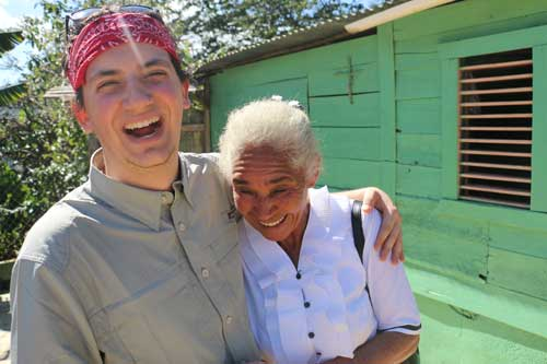 Andrew with Dolores, one of the Dominican coffee farmers who supplies Better World Beans.