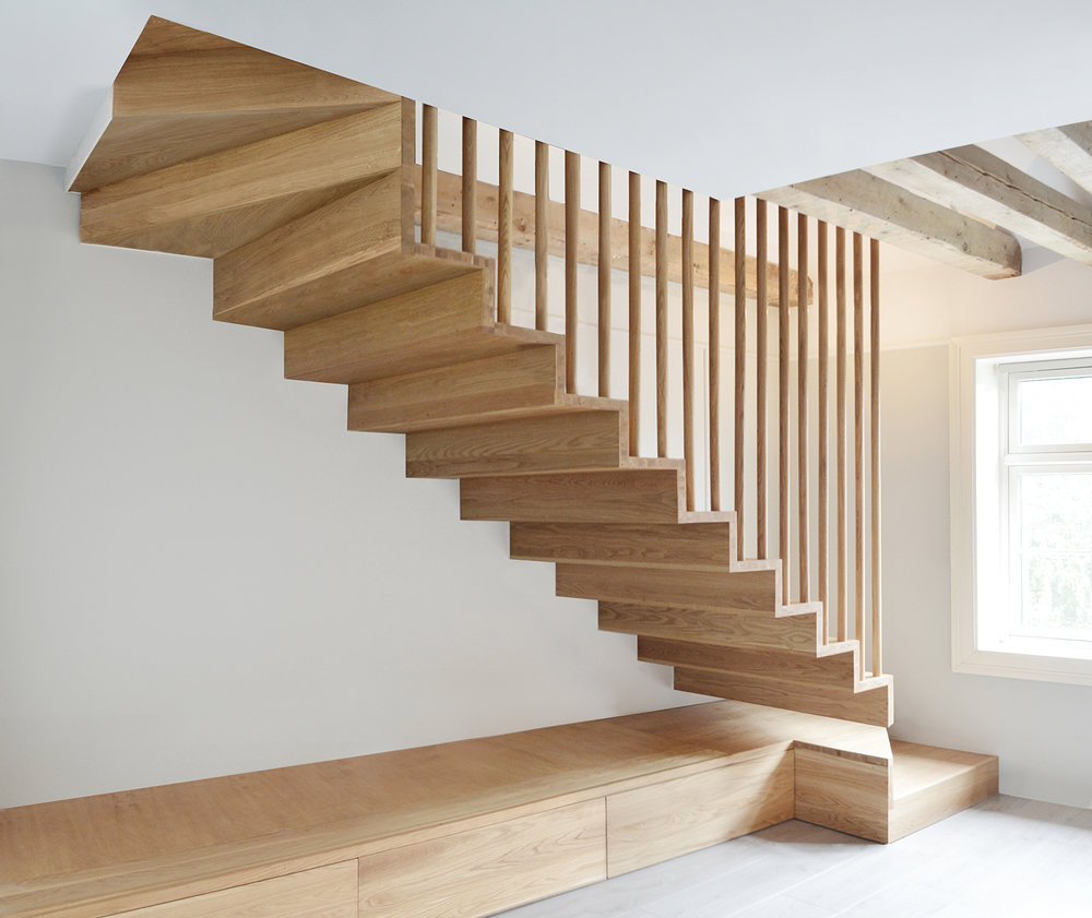 Suspended staircase for apartment Oslo