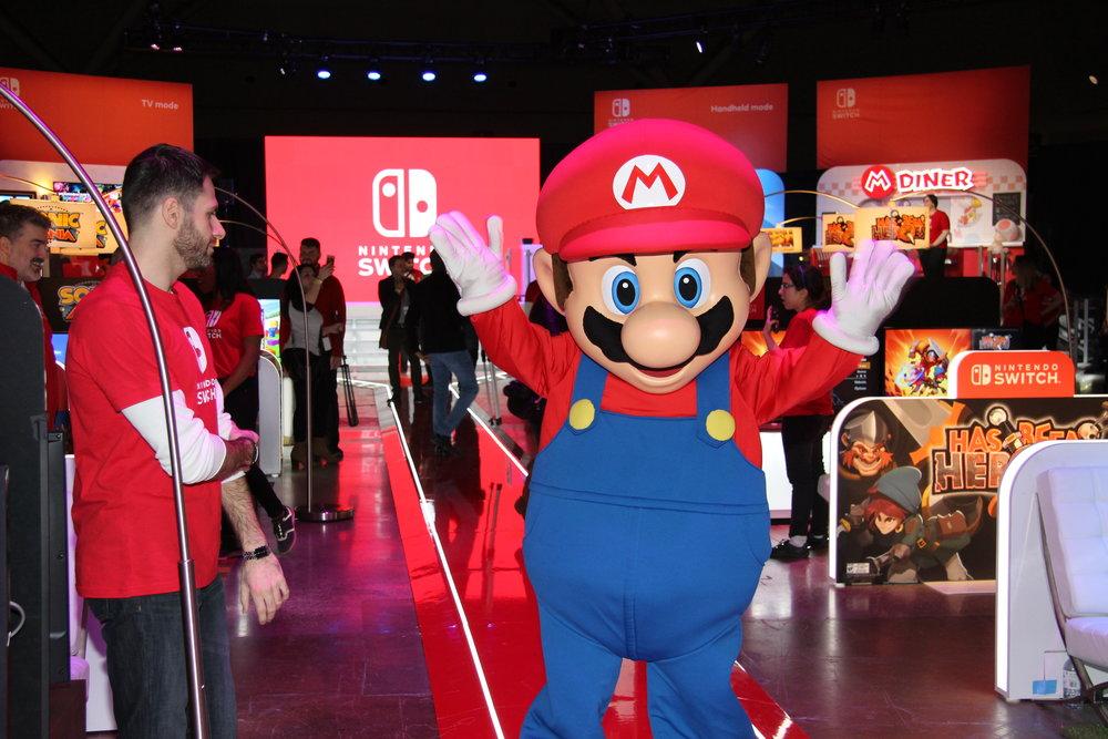Mario greeting guests!