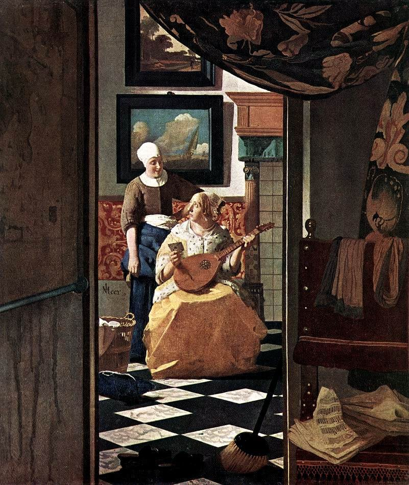 The Love Letter by J. Vermeer