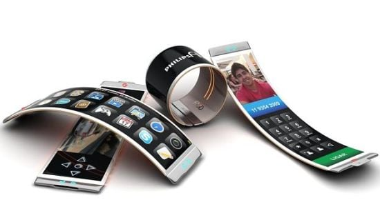 Philips Fluid Phone. A Concept for flexible OLED mobile devices