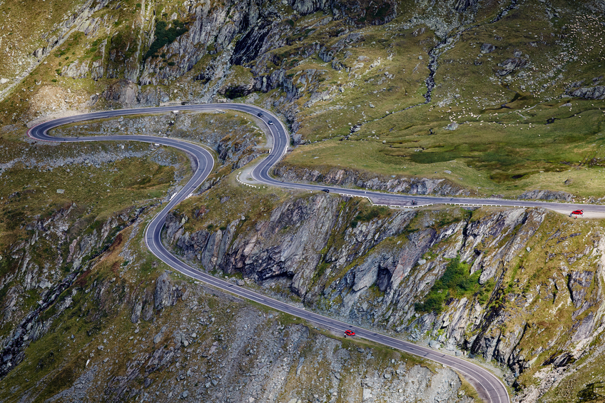The Transfagarasan Highway, Romania. Photo credit:  www.martin-adventures.com/road-cycling