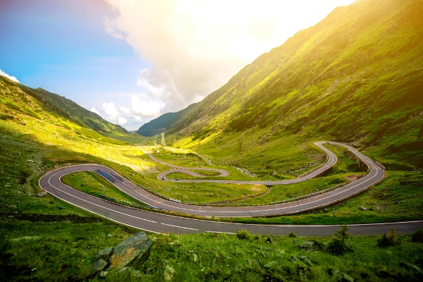 The Transfagarasan Highway - North Side. www.martin-adventures.com/road-cycling