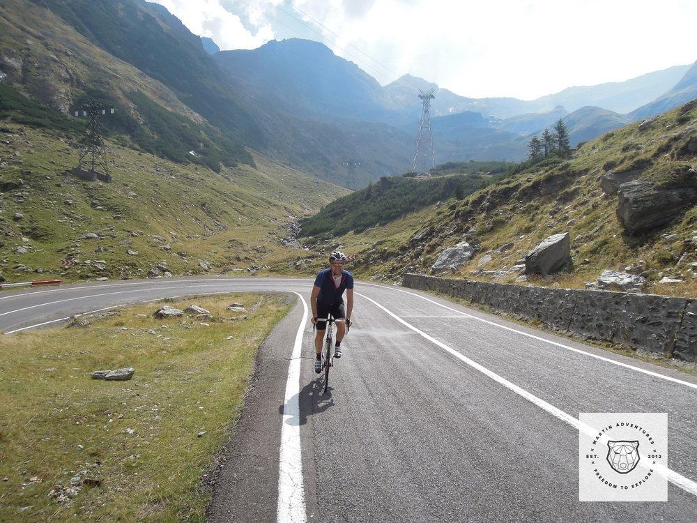 Climbing the Transfagarasan with Martin Adventures.
