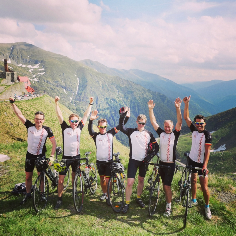 A picture from our bespoke road cycling tour on the Transfagarasan.