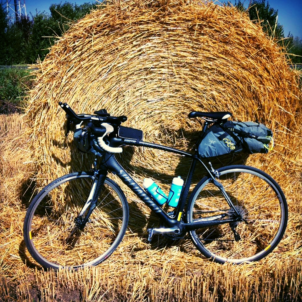 My bike set up on a training ride in Bulgaria