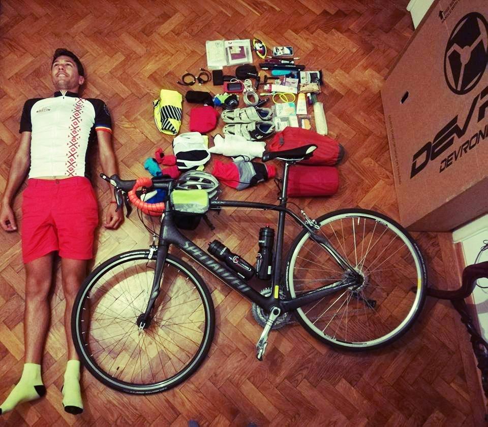 My final gear setup before packing the bike