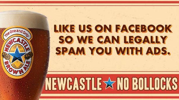 La campagne No Bollocks de Newsacle Ale.