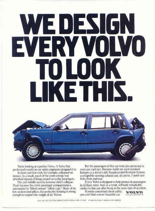 Publicité de David Abbott pour Volvo. Coercition, vraiment?