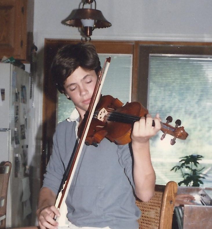 John age 12 playing violin