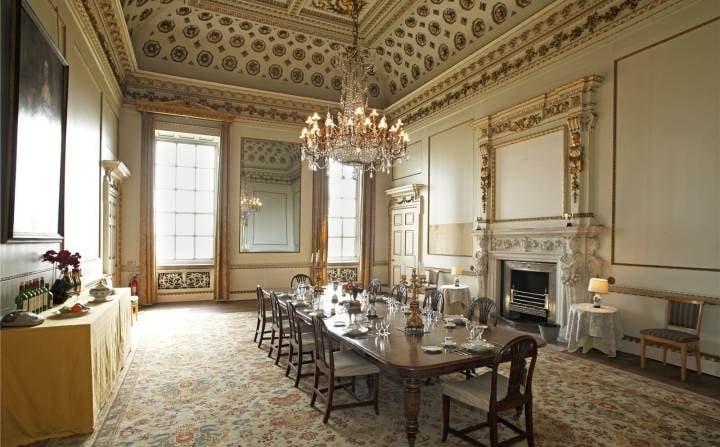 Wentworth Woodhouse Dining Room, (Savills).