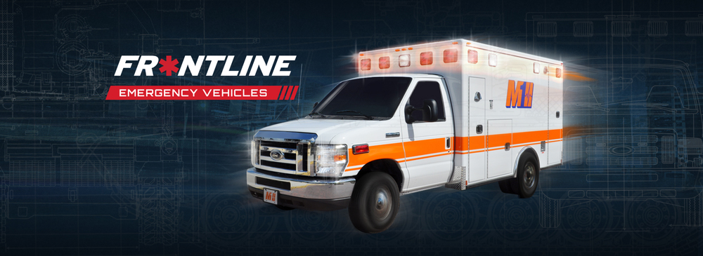 BUILT LIKE A TANK. WHEN YOU'RE ON THE FRONTLINE, YOU NEED AN AMBULANCE BUILT LIKE A TANK When your emergency crew is the first to respond, you need an ambulance that is frontline ready — built from the tires up to handle the most basic needs. Frontline Emergency Vehicles, a new brand of REV Group, Inc., a leader in manufacturing ambulances, answers that demand with the Frontline M1 Type I and Type III ambulance.