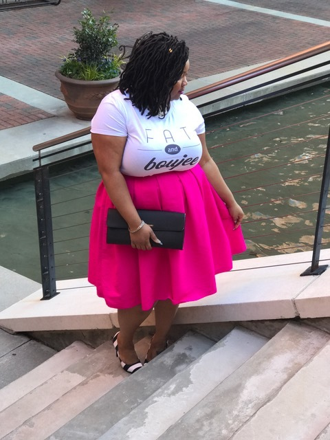 541ccfc9 So can I just tell you guys how obsessed I am with this FAT & BOUJEE shirt!!!  I feel like it describes me so well. I love the fancier things ...