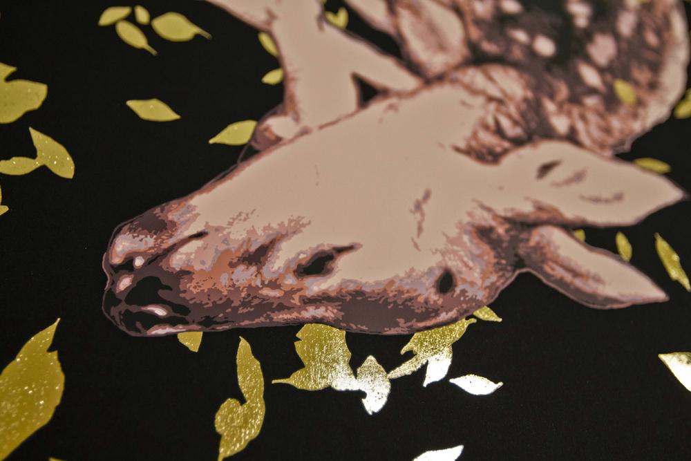 Printing Golden Leaves