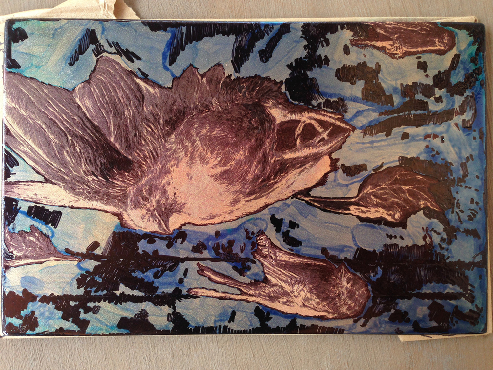 Aquatint Progress With Stop Out