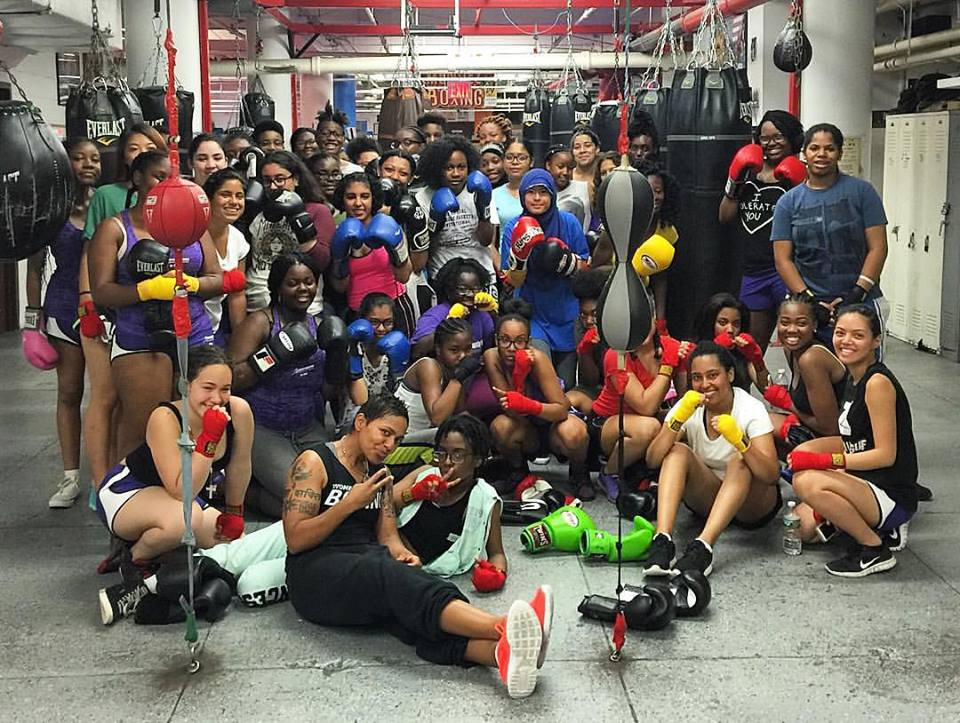 Women's World of Boxing, NYC + PowerPlayNYC 2016 Summer Leadership Academy Girls Boxing