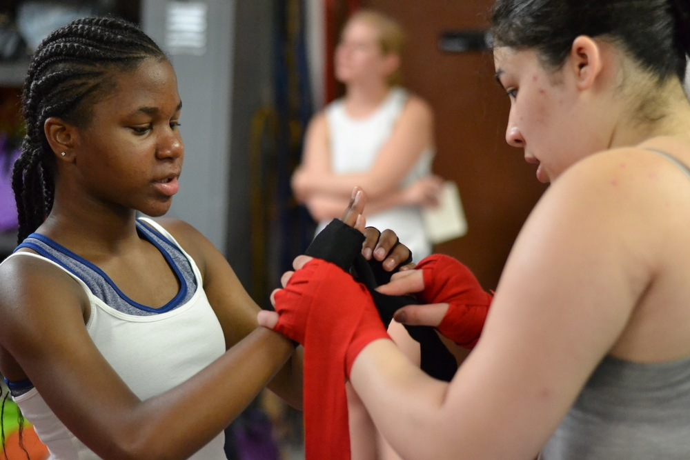 Empowering Girls Through The Sport Of Boxing Women's World of Boxing, NYC + PowerPlayNYC #ssla2016 Summer Leadership Academy ©women's world of boxing. photo by nebi.