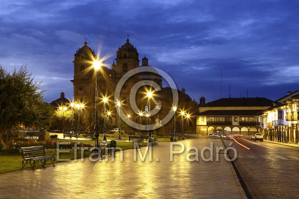 La Compania de Jesus (The Company of Jesus) Church on the Plaza de Armas, Cusco, Peru