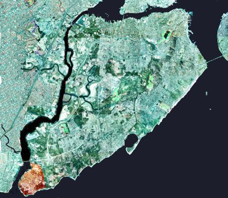 Satellite map of Tottenville