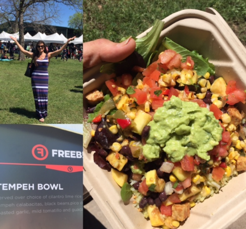 Tempeh Bowl from Freebirds at the Texas VegFest