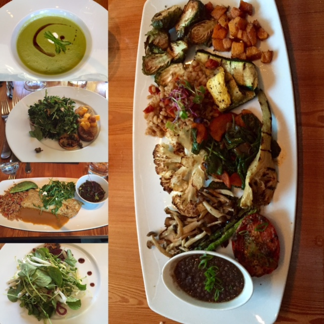 Vegan and vegetarian options at Bliss