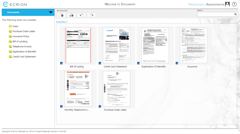 Simplified document production workflows in the Projects Module