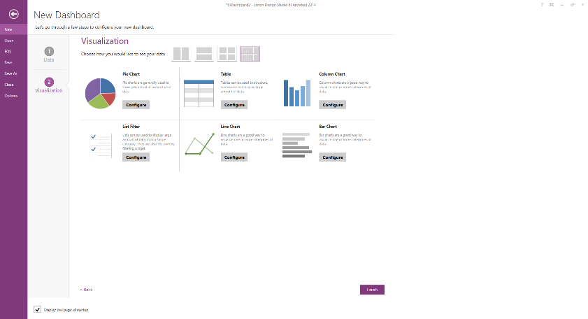 Easily design dashboards in the new Dashboard Wizard