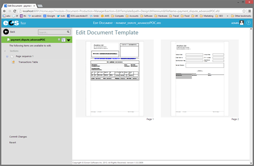 Figure 1: Users can quickly and easily edit documents on the fly with Ecrion's EOS platform