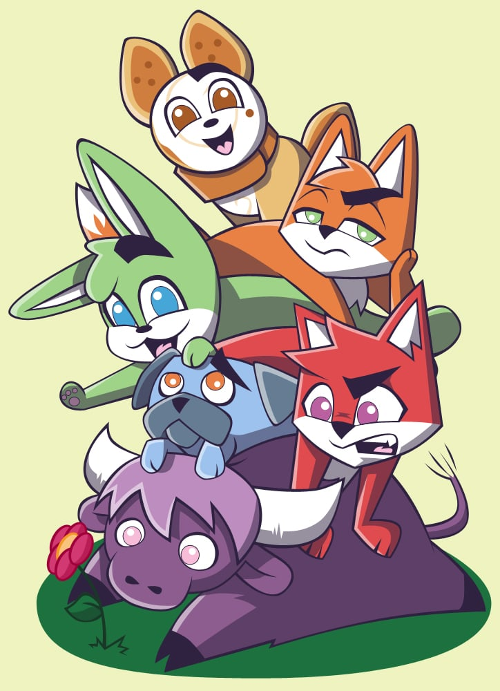 Foxy and Squeaky cast