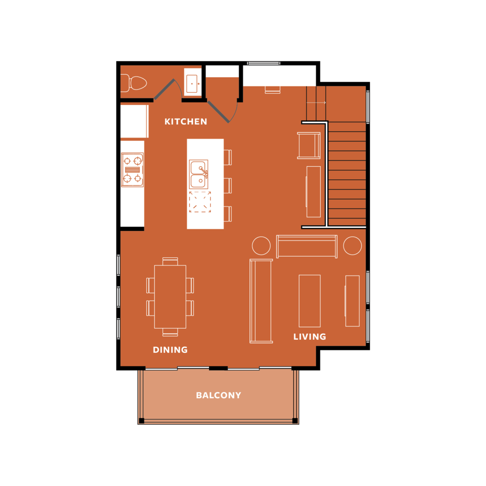 ORANGE: Top Floor