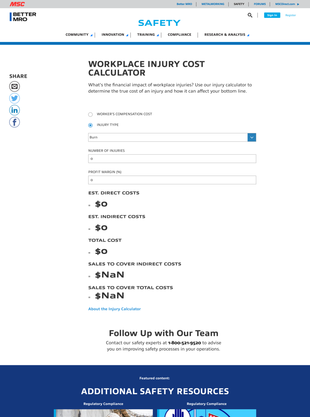 - Injury Cost Calculator