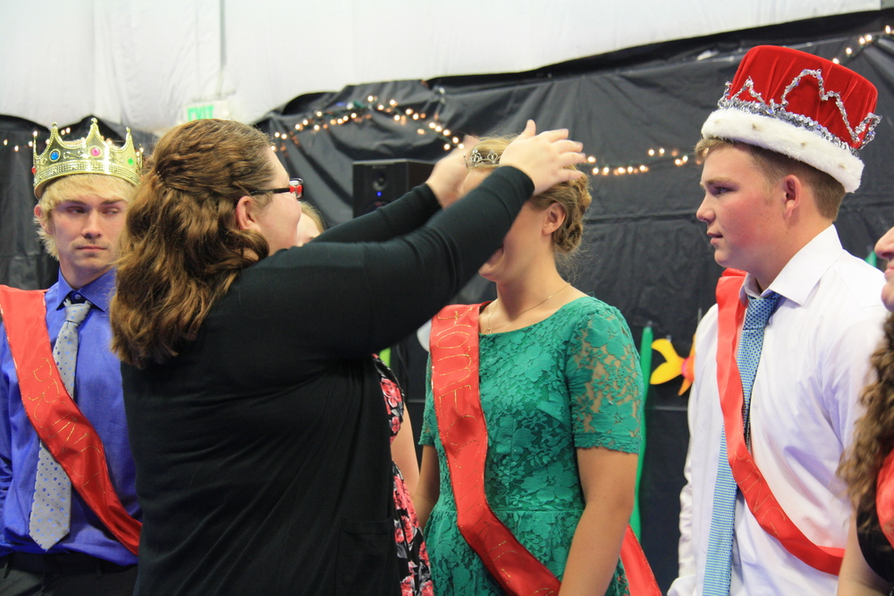 Crowning the King and Queen