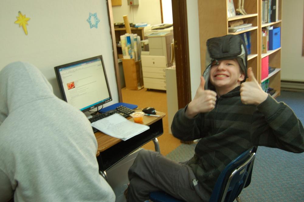 Nate Hendrix enjoys his online class