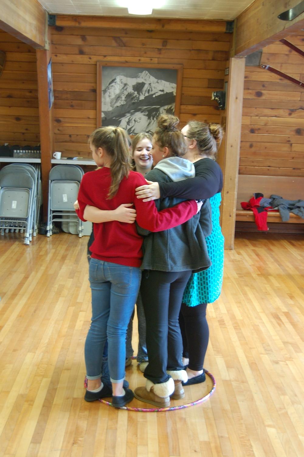 Playing Hula Hoop Math at the annual High School Baker Retreat