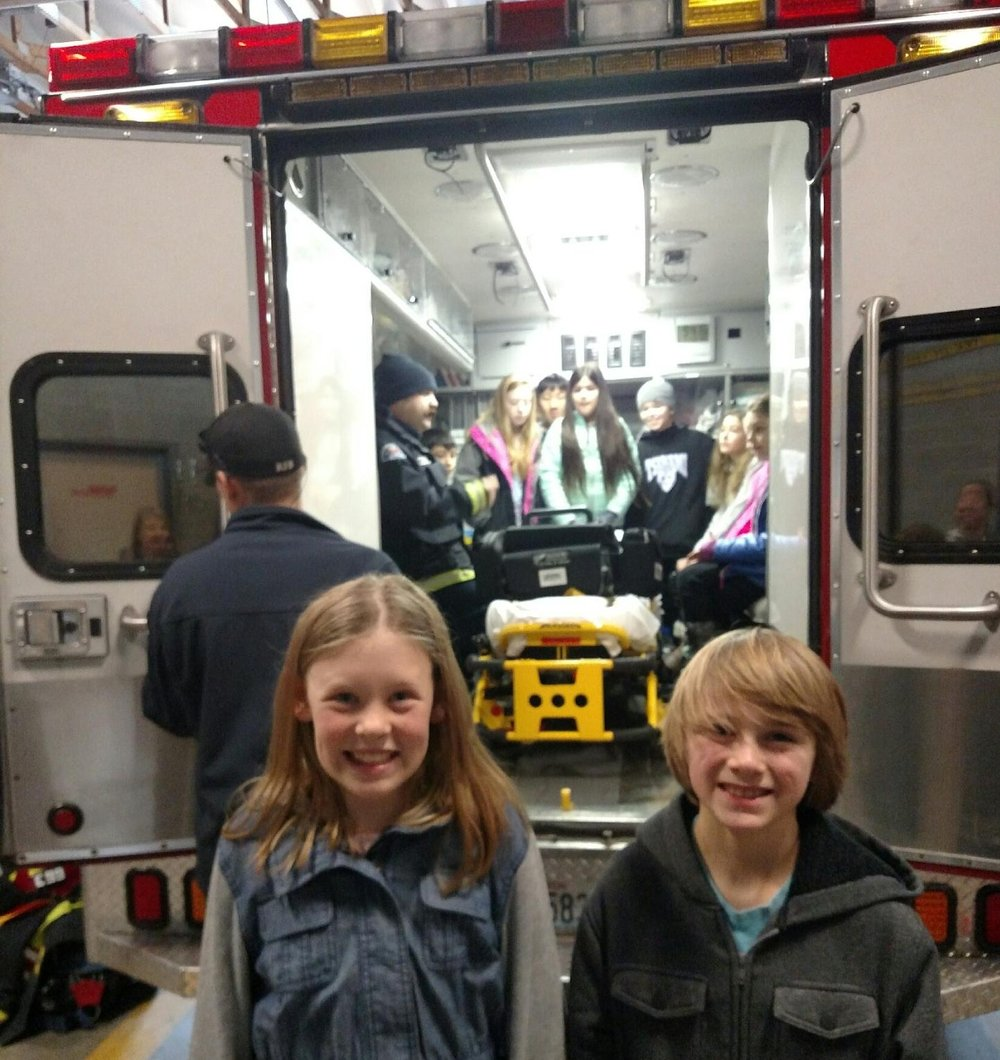 Fourth & Fifth Graders Visit the Fire Department