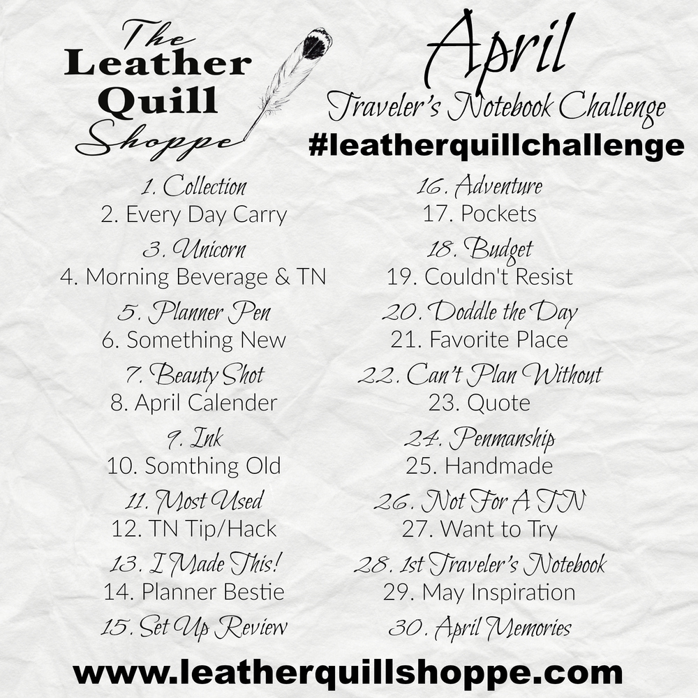 join our first Instagram challenge!  Use #leatherquillchallenge and have fun!