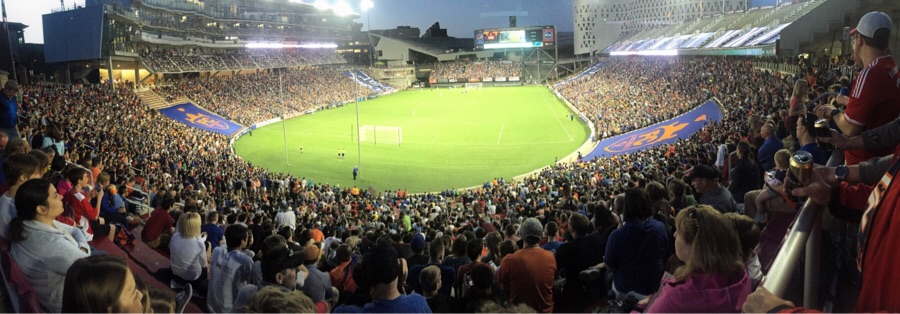 20,497 people packed into Nippert Stadium. Photo by Die Innenstadt member Mariana Lamping.