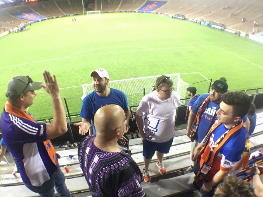 Joe Vala of the Lou City drum line stopped by after the match. A nice guy who we're excited to see again in June