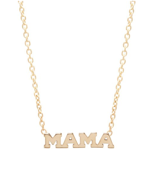 14K Gold Mama studs or necklace - at Muse