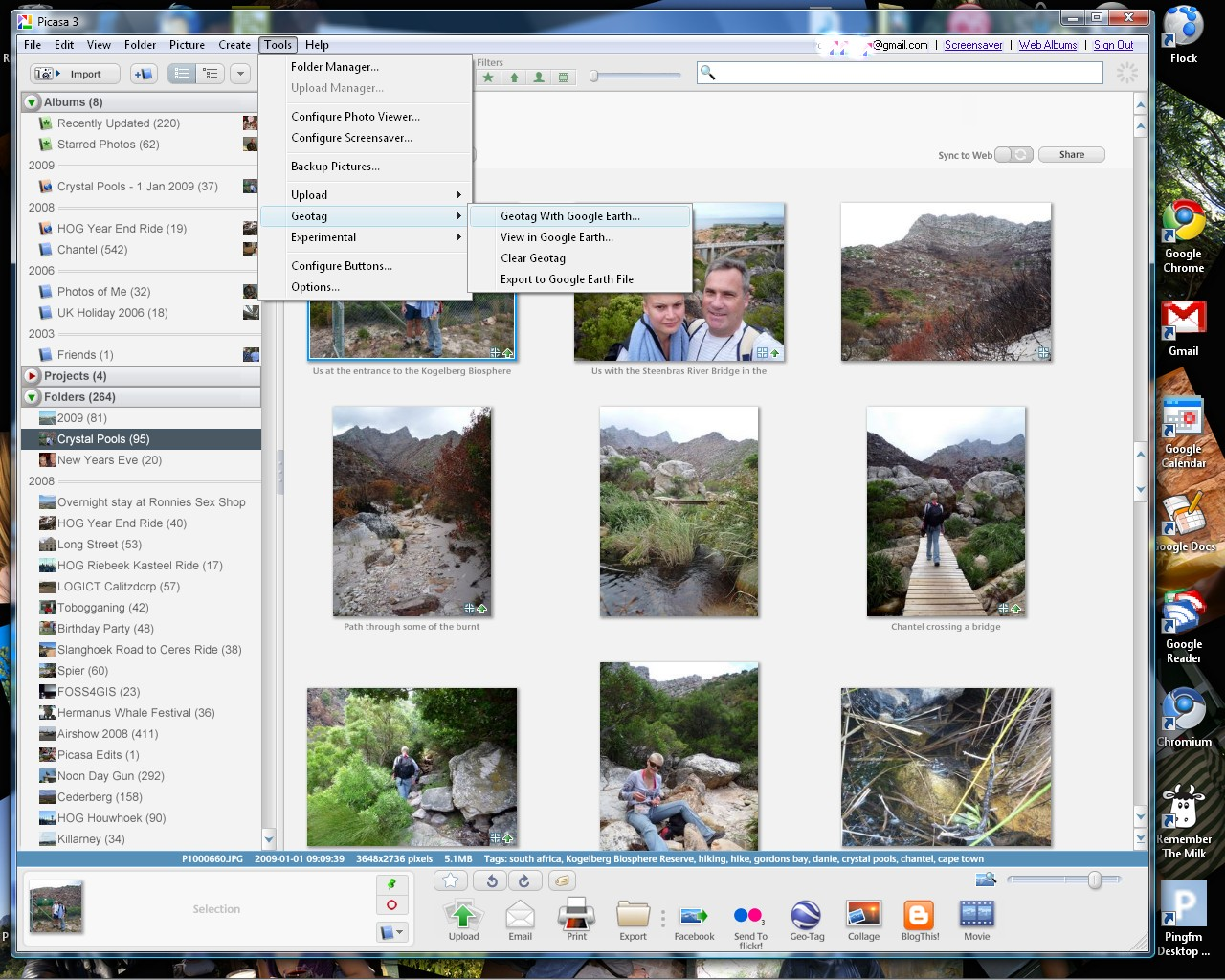 Screenshot of Google Picasa 3