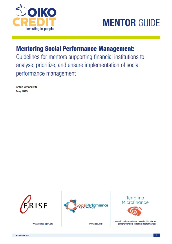 Mentoring Social Performance Management