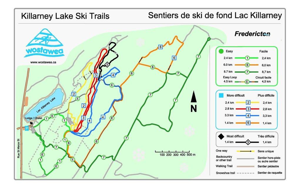 New Snow Groomer and Killarney Lake Trails Map Wostawea Ski Club