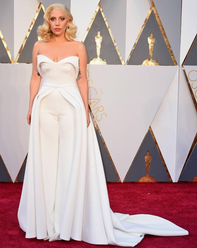 Lady Gaga- wearing a Brandon Maxwell ensemble Total bridal inspiration! Wishing I wore this to my rehearsal dinner!