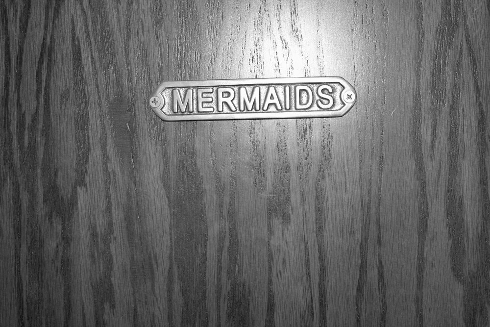 Mermaids sign on the Women's Restroom. #winning