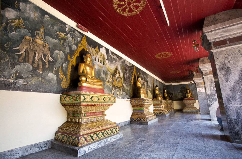 """Wall of Buddhas"""