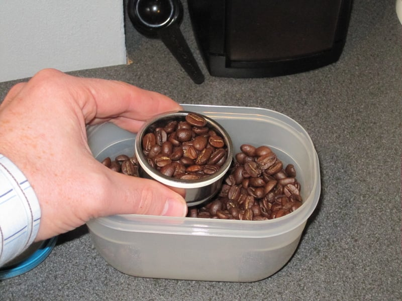 You will need about as many beans as you can fit in the cup